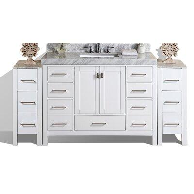Malibu 61 Single Modern Bathroom Vanity Set Base Finish: White