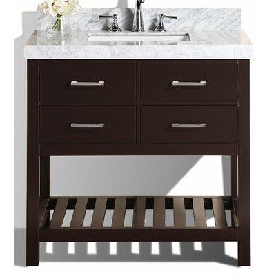 Laguna 41 Single Modern Bathroom Vanity Set Base Finish: Espresso