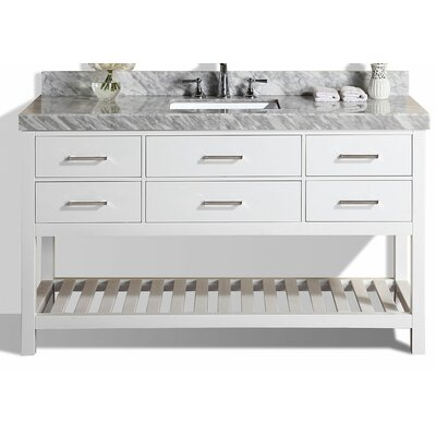 Laguna 61 Single Modern Bathroom Vanity Set Base Finish: White