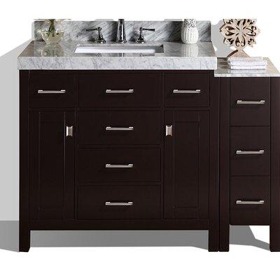 Malibu 41 Single Modern Bathroom Vanity Set Base Finish: Espresso
