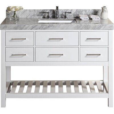 Laguna 49 Single Modern Bathroom Vanity Set Base Finish: White