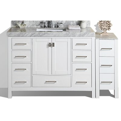 Laub 49 Single Modern Bathroom Vanity Set Base Finish: White
