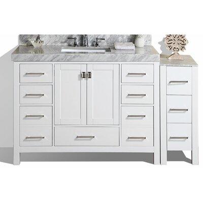 Malibu 49 Single Modern Bathroom Vanity Set Base Finish: White