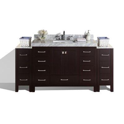 Malibu 49 Single Modern Bathroom Vanity Set Base Finish: Espresso