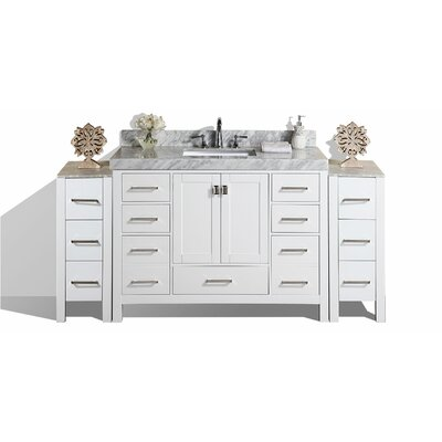 Malibu 49 Single Modern Bathroom Vanity Set Base Finish: White