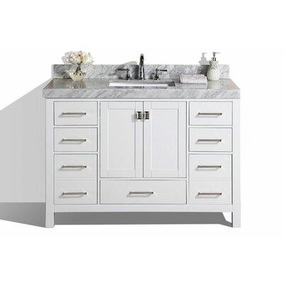 Laub 61 Single Modern Bathroom Vanity Set Base Finish: White