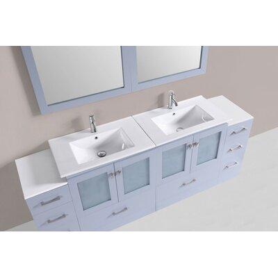 Terese Modern 84 Double Bathroom Vanity Set Base Finish: Gray