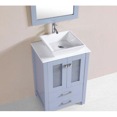 Lyn Modern 24 Single Bathroom Vanity Set Base Finish: Gray