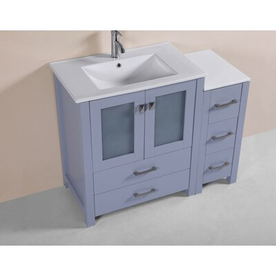 Lyn Modern 42 Single Bathroom Vanity Set Base Finish: Gray