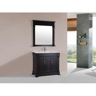 Buterbaugh Traditional 40 Single Bathroom Vanity Set with Mirror Base Finish: Espresso