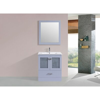 Lapoint Modern 30 Single Bathroom Vanity Set Base Finish: Gray