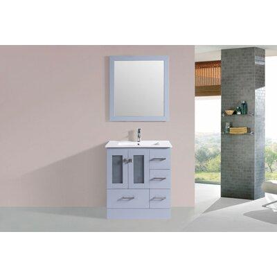 Terese Modern 30 Single Bathroom Vanity Set Base Finish: Gray