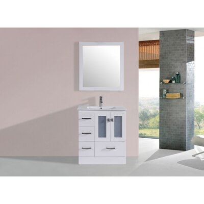 Lapoint Modern 30 Single Bathroom Vanity Set Base Finish: White