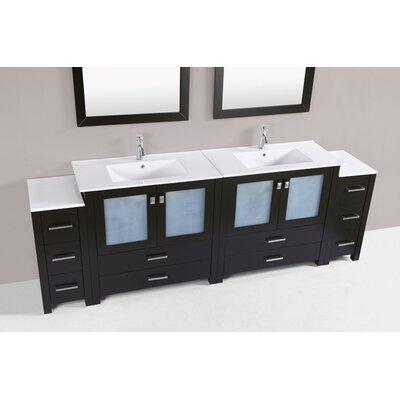 Lyn Modern 96 Double Bathroom Vanity Set Base Finish: Espresso