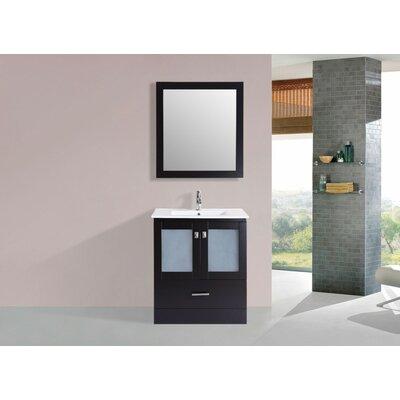 Lapoint Modern 30 Single Bathroom Vanity Set with Mirror Base Finish: Espresso