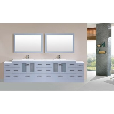 Terese Modern 120 Double Bathroom Vanity Set Base Finish: Gray