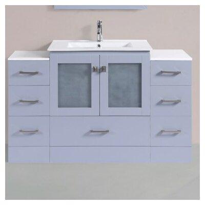 Terese Modern 54 Single Bathroom Vanity Set Base Finish: Gray