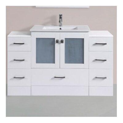Terese Modern 54 Single Bathroom Vanity Set Base Finish: White