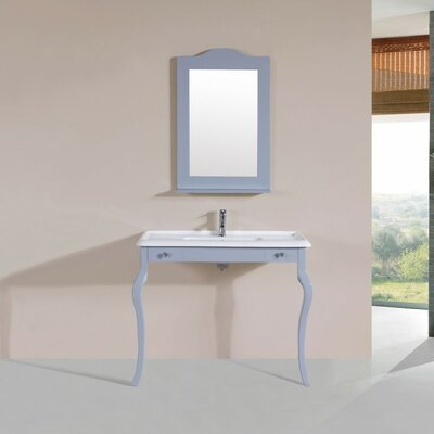 Buswell Traditional ADA 40 Single Bathroom Vanity Set with Mirror Base Finish: Gray