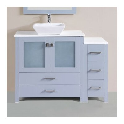 Lyn Modern 47 Single Bathroom Vanity Set Base Finish: Gray