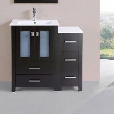 Lyn Modern 36 Single Bathroom Vanity Set Base Finish: Espresso