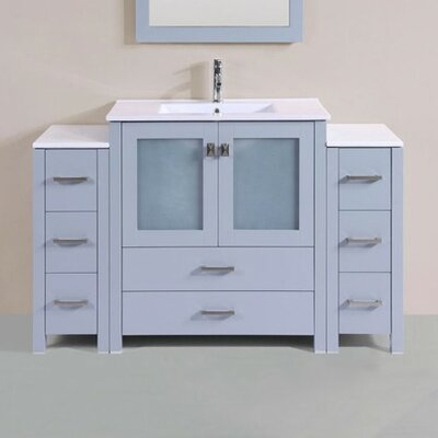 Lyn Modern 54 Single Bathroom Vanity Set Base Finish: Gray