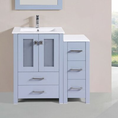 Lyn Modern 36 Single Bathroom Vanity Set Base Finish: Gray