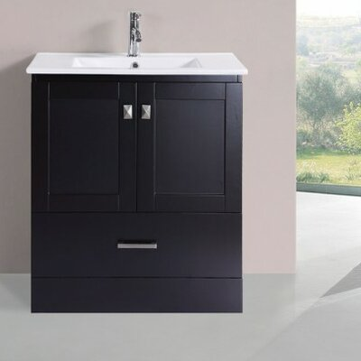 Luci Modern 30 Single Bathroom Vanity Set Base Finish: Espresso