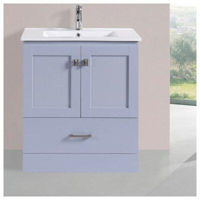 Luci Modern 30 Single Bathroom Vanity Set Base Finish: Gray