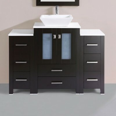 Lyn Modern 48 Single Bathroom Vanity Set Base Finish: Espresso