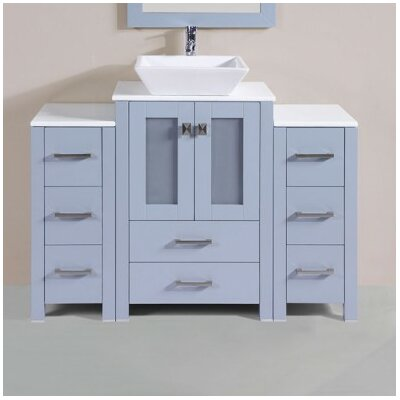 Lyn Modern 48 Single Bathroom Vanity Set Base Finish: Gray