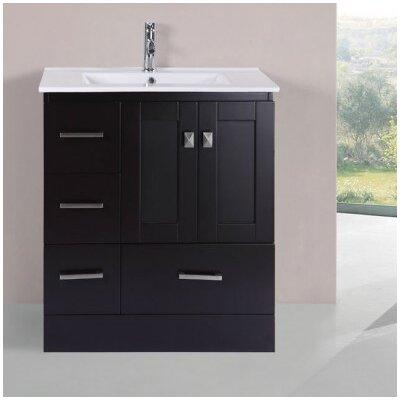 Luci Modern 30 Single Bathroom Vanity Set Base Finish: Espresso
