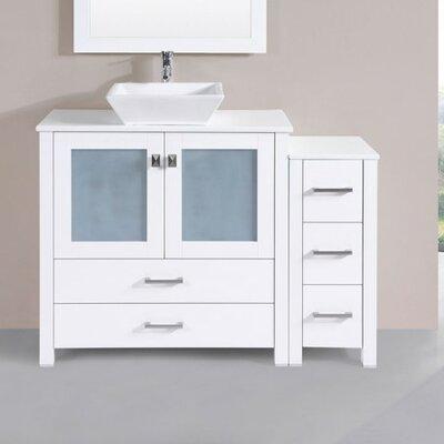 Lyn Modern 48 Single Bathroom Vanity Set Base Finish: White