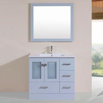 Lapoint Modern 36 Single Bathroom Vanity Set with Mirror Base Finish: Gray