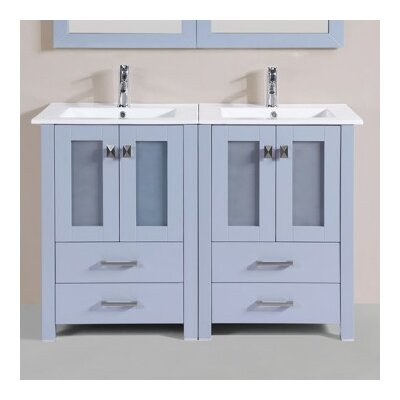 Lyn Modern 48 Double Bathroom Vanity Set Base Finish: Gray