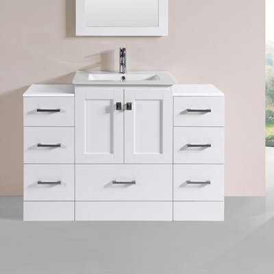 Luci Modern 48 Single Bathroom Vanity Set Base Finish: White