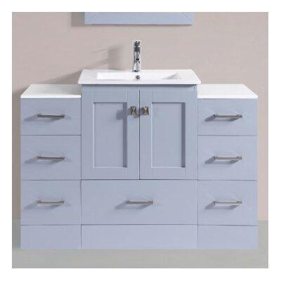 Luci Modern 48 Single Bathroom Vanity Set Base Finish: Gray