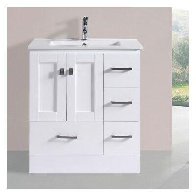 Luci Modern 30 Single Bathroom Vanity Set Base Finish: White