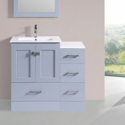 Luci Modern 6 Single Bathroom Vanity Set Base Finish: Gray