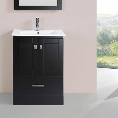 Luci Modern 24 Single Bathroom Vanity Set Base Finish: Espresso