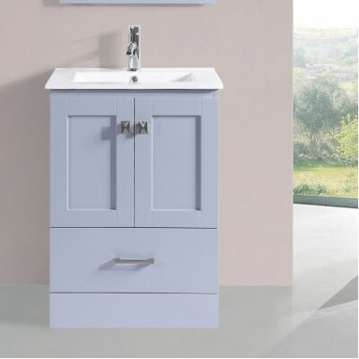Valenti Modern 24 Single Bathroom Vanity Set Base Finish: Gray