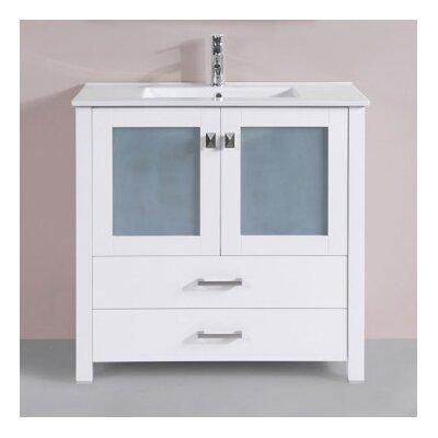 Lyn Modern 36 Single Bathroom Vanity Set Base Finish: White