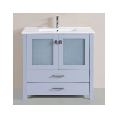 Lapp Modern 36 Single Bathroom Vanity Set Base Finish: Gray