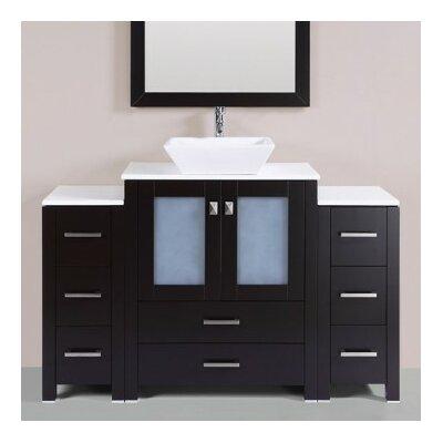Lyn Modern 54 Single Bathroom Vanity Set Base Finish: Espresso