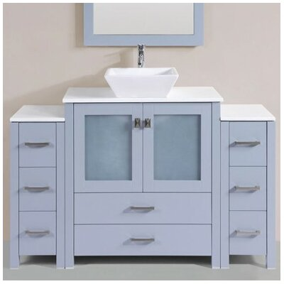 Lyn Modern 54 Single Bathroom Vanity Set Base Finish: Gray