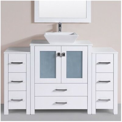 Lyn Modern 54 Single Bathroom Vanity Set Base Finish: White
