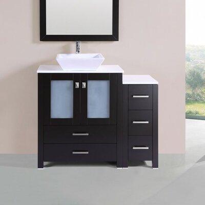 Lyn Modern 42 Single Bathroom Vanity Set Base Finish: Espresso