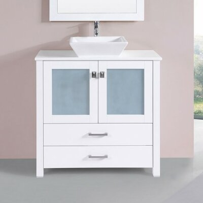 Lyn Modern 36 Single Bathroom Vanity Set Base Finish: White