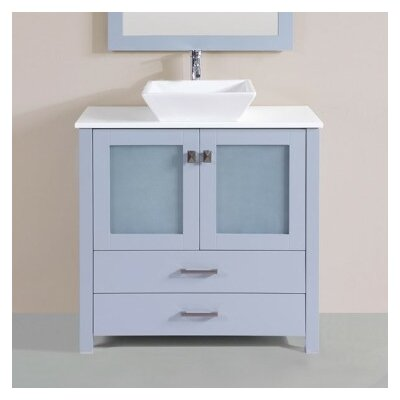 Lyn Modern 36 Single Bathroom Vanity Set Base Finish: Gray
