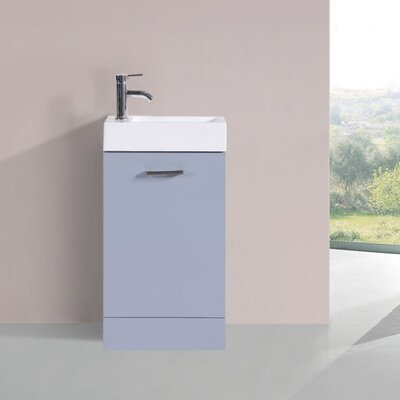 Lando Modern 19 Single Bathroom Vanity Set Base Finish: Gray